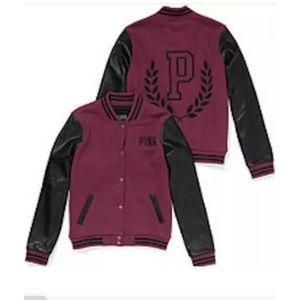PINK Victoria Secret Varsity Jacket- Maroon